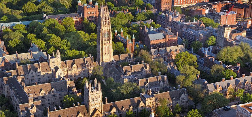 Areal shot of Yale campus