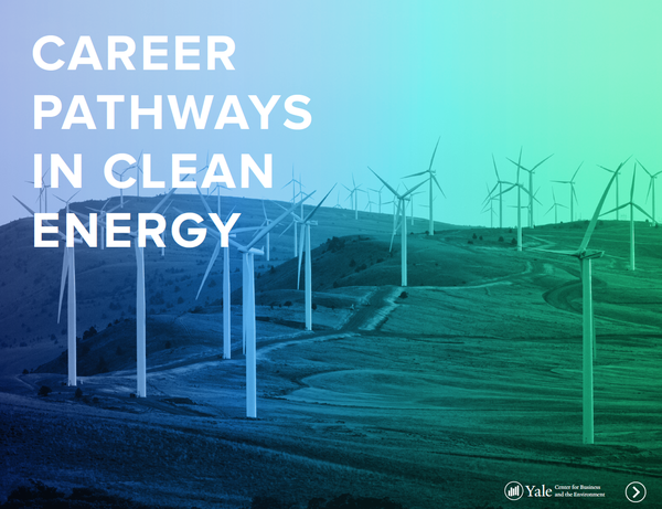 Career Pathways in Clean Energy cover graphic