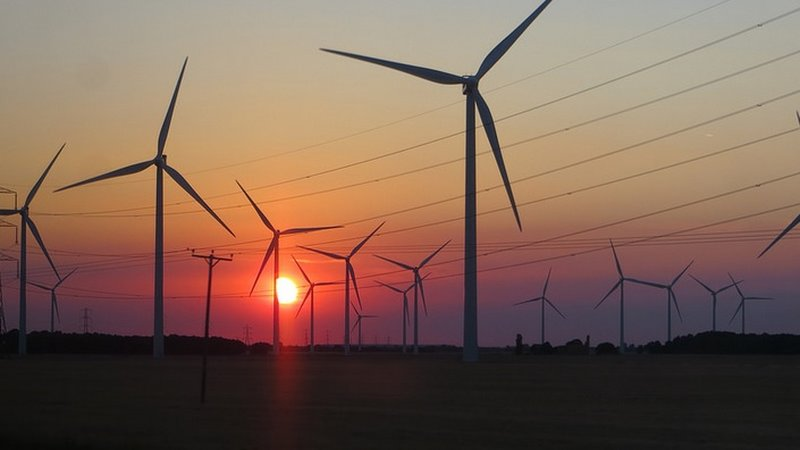 Wind Power Sunset