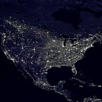 US at night aerial