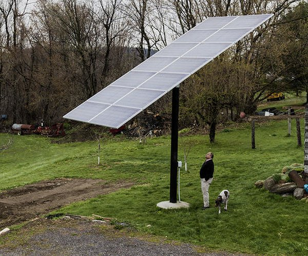 Solar wall in Vermont