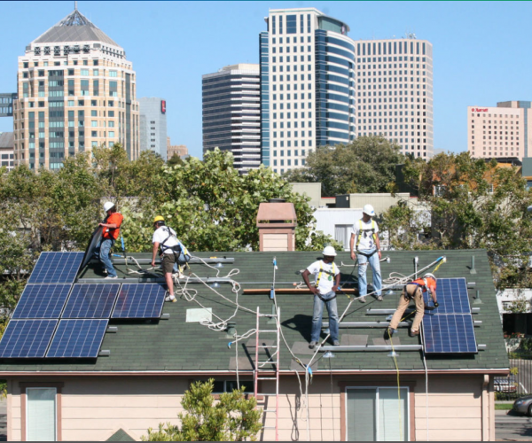 Solar install in urban community