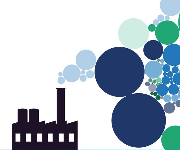 Factory emissions graphic