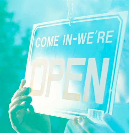 Come in!  We're open.